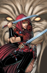 Scarlet Huntress #1 (2016 reprint) Cover, All Art Sean Forney