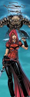 Scarlet Huntress banner image, All Art by Sean Forney