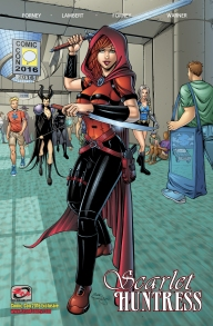 Scarlet Huntress Trade, Comic-Con Exclusive, All Art by Sean Forney