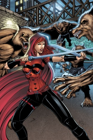 Scarlet Huntress #2 Cover (2016 reprint), All Art by Sean Forney