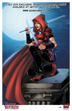 Scarlet Huntress 2014 C2E2 Exclusive Print, All Art by Sean Forney