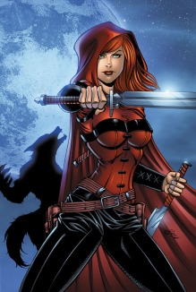 Scarlet Huntress Print, All Art by Sean Forney