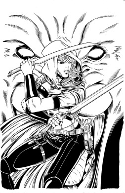 Scarlet Huntress #1 (2016 reprint), Lineart by Sean Forney