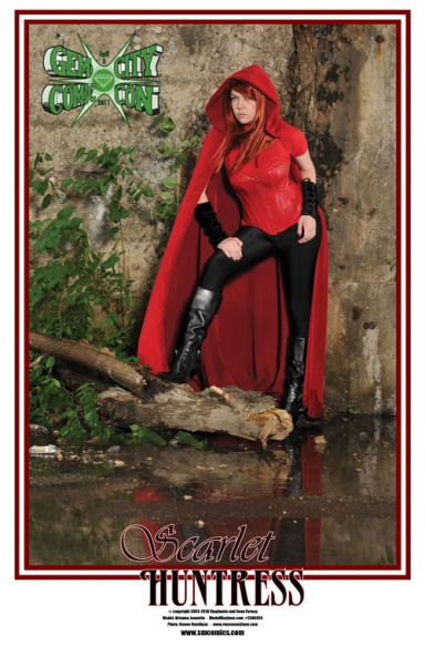 Scarlet Huntress Gem City Comic Con Exclusive Print, Photography by Renee Needham, Model Brianne Jeanette