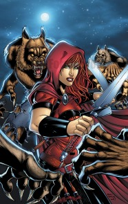 Scarlet Huntress Lineart: Sean Forney, Colors: Sean Forney